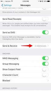 Under You Can Be Reached By iMessage at make sure both your phone number and Apple ID email address are checked If not tap to check them