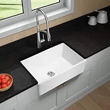 hoooh farmhouse spüle für küchenspüle aus porzellan rechteckig weiß 33 x 20 x 10 weiß