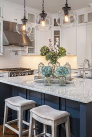 Kitchen Island Decor Small With Navy And White