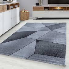 teppich flachflor motiv modern wohnzimmer pflegeleicht