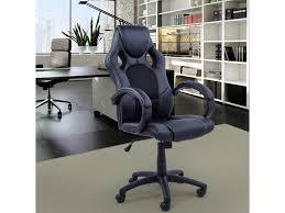 fauteuil de bureau luxe chaise bureau luxe pivotant fauteuil ordinateur managé noir homcom