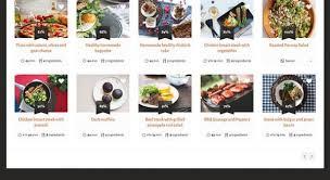 site recette de cuisine recipes un thème pour site web de recettes de cuisine
