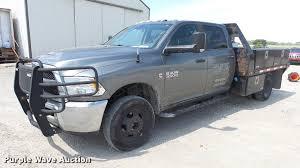 100 2013 Dodge Ram Truck 3500 Crew Cab Flatbed Pickup Truck Item ES9