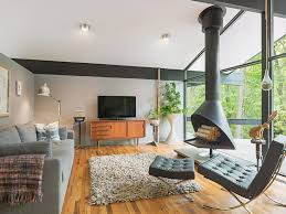 brilliant stand alone fireplace home renovations with wall decor