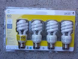 ecosmart 60w equivalent spiral cfl light bulb bright white 4