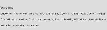 Starbucks Phone Number Customer Service