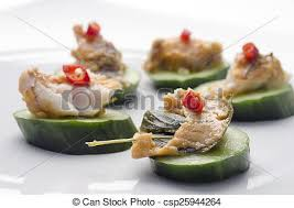 pate canapes fish pâté and cucumber canapés a horizontal image of a