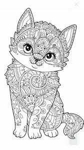 Coloriage Chaton Chat Coloriage Chat Art Thérapie Chat Chaton