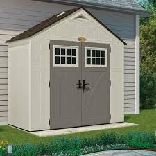 Rubbermaid Shed Assembly Time by Suncast 8 U0027 X 4 U0027 Shed Vanilla Walmart Com