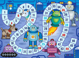 Free Robot Birthday Party Printables Game Board