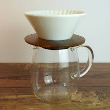 Pour Over Coffee Jug With White Ceramic Filter Cone