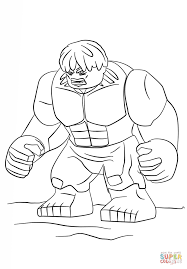 Click The Lego Hulk Coloring Pages