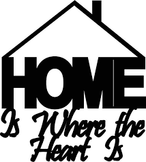 Home Is Where The Heart Abstract Metal Wall Art Decor