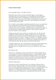 Resume Headline Examples For Mca Freshers Lovely Strong How To Write