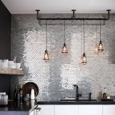 kitchen white kitchen island industrial pendant lights back