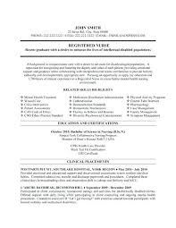 Resume Examples For Psychiatric Nurse Plus Cover Letter Good Rural