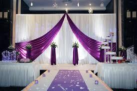Elegant Wedding Stage Backdrop Design View