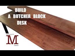 making a butcher block desk 003 youtube