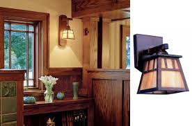 amusing arts crafts lighting used in bungalow makeover at