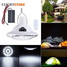 solar power rechargeable 22 led light bulb bright remote