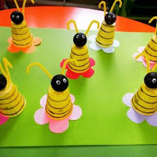 Paper Cup Crafts For Preschoolers Bee Craft Idea On Hina Matsuri Easy