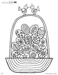 Easter Egg Basket Coloring Sheet