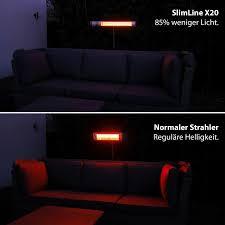 vasner infrarot heizstrahler slimline x20 2000 watt mit fernbedienung silber