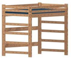 heavy duty full size loft bed with ladder 60 inches tall home