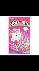 Lot Of 2 Boxes Unicorn Cereal Limited Edition Breakfast Kellogg