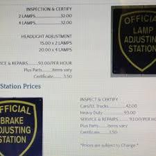 Brake And Lamp Inspection Sacramento by Brake And Light Adjustment Certificates Iron Blog