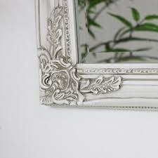 gross kunstvoll antik creme wand spiegel vintage shabby chic