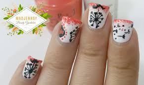 100 Nail Art 2011 Dark Dandelion How To Paint Seasonal Beauty On