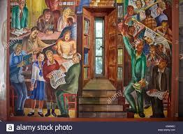 fresco murals inside coit tower san francisco california united