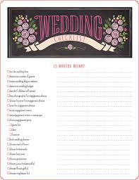 Printable Wedding Checklist Best 25 Planning