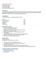 Fast Food Employee Resume