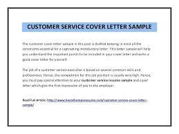 Cover Letter Customer Service Representative shalomhouse