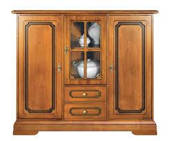 kleiner schrank esszimmer wohnzimmer küche möbel im stil aus holz 2 türen 1 glastür 2 schubladen schrank klassisch mit sockel