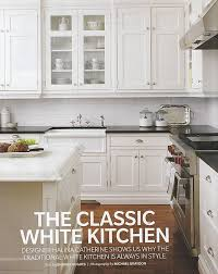 classic white but the black countertops are cool and would not