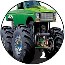 100 Biggest Monster Truck Amazoncom Short Plush Round Carpet Giant Pickup With