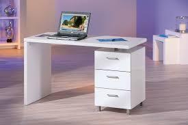 bureau blanc brillant bureau design blanc laqué bureau chambre enfant chambre