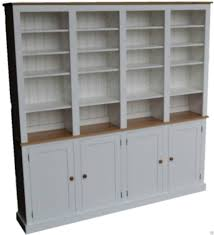 Ebay Uk China Cabinets by White Painted U0026 Oak Bookcase 7ft Tall Heavy Duty Shelving Unit