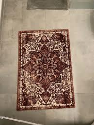 h m home teppich badezimmerteppich 90x60cm altrosa beige rot