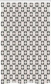 abakuhaus duschvorhang badezimmer deko set aus stoff mit haken breite 120 cm höhe 180 cm geometrisch retro wiederholung shapes kaufen