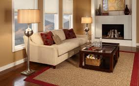Classic Living Room With Modern Standing Lamps