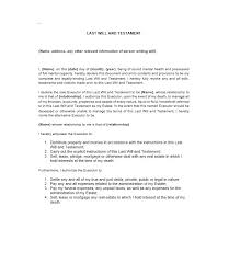 Free Last Will And Testament Template 13