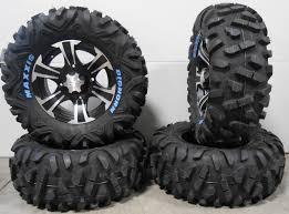 100 14 Inch Truck Tires ITP SS312 Wheels Black 28 BigHorn Yamaha Viking Wolverine