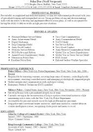 Police Officer Resume Examples Military Sample To