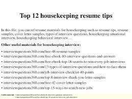 Resume Examples Housekeeping Amazing Maintenance Janitorial Maid Sample Great Cleaning Professionals Classic