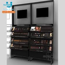 Retail Shop Cosmetics Product Wooden Display Stands With Drawers