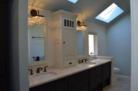 Bathroom Vanity Tower Ideas by Crystal Cabinetry 2 Tone Bathroom Vanity With Center Tower